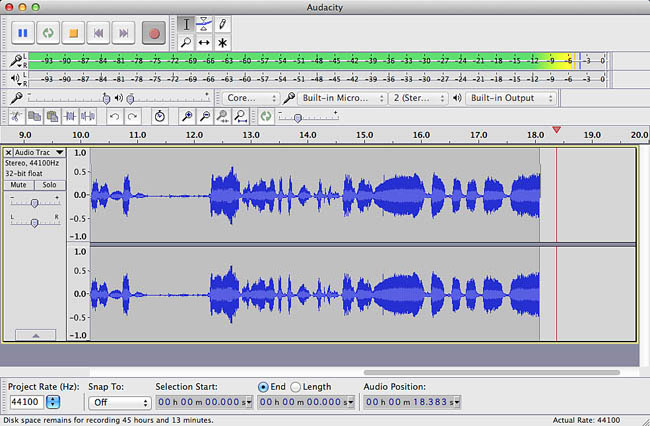 interface question!!! - Audacity Forum